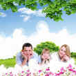 Happy family spending time together — Stock Photo #10261456