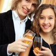Couple in a restaurant with shampagne — Stock Photo #10268210