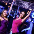 Young woman having fun at nightclub disco — Stock Photo #10268401