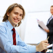 Young businessman at work in office — Stock Photo #10268559