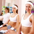 Young woman doing sport in gym — Stock Photo #10269640