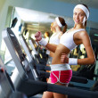 Young woman doing sport in gym — Stock Photo #10269653