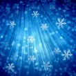 Royalty-Free Stock Photo: Winter background with white snowflakes