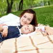 Mother with her son outside — Stock Photo #10273324