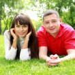 Young couple in park — Stock Photo #10273363