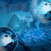 Global financial color charts and graphs — Stock Photo
