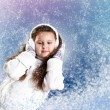 Cuty little girl in winter wear — Foto de Stock