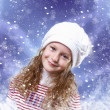 Stock Photo: Cuty little girl in winter wear