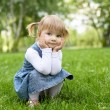 Portrait of a little girl outdoors - Foto Stock