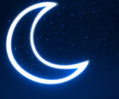 Night sky background with moon and stars — Stock fotografie