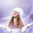 Cuty little girl in winter wear — Stock Photo #8025314