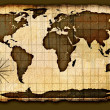 Old paper world map — Stock Photo #8185065