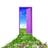 Open door leading to summer — Stock Photo