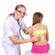Doctor doing medical examination to a child — Stock Photo #8196360