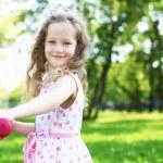 Little girl in summer park — Stock Photo #8242561