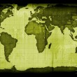 Old paper world map - Foto Stock