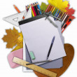 Royalty-Free Stock Photo: Collage of school stationery