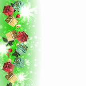 Plano de fundo com a tradicional decoração de natal — Foto Stock