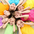 Group of children in the park — Stock Photo #8360907