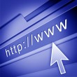 Web page with arrow - Stockfoto