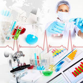 Science collage — Stock Photo
