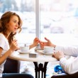 Young couple having a date in restaurant — Stock Photo #8395814