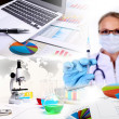 Medicine science and business collage - Lizenzfreies Foto