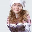 Cuty little girl in winter wear — Stock Photo