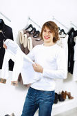 Young man doing shopping — Stock Photo
