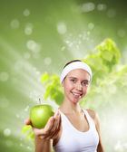 Young healthy woman doing sport — Stock Photo