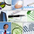 Stock Photo: Financial and business charts and graphs