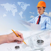 Construction industry collage — Stock Photo