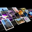 Stockfoto: Screens with images flow