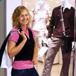 Young woman doing shopping — Stock Photo #8528826