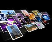 Schermen met beelden stroom — Stockfoto