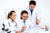 Young doctors at work — Foto de Stock