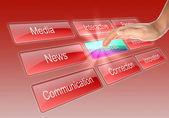 Digitalanzeige mit business-wörter — Stockfoto
