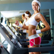 Young woman doing sport in gym - Stock fotografie