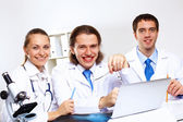 Young doctors at work — Foto Stock