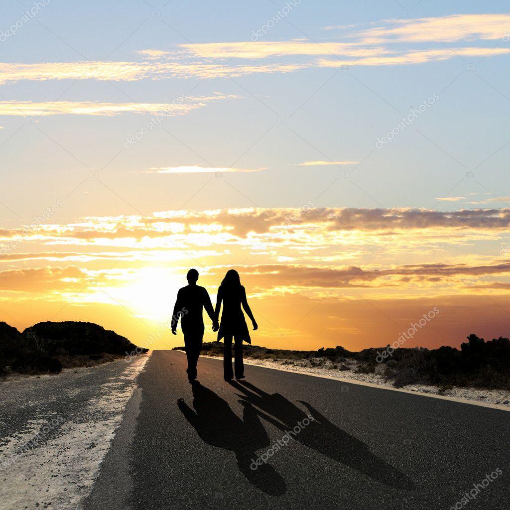 Фото мужчина и женщина идут 17 фотография