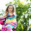 Little girl in summer park — Stock Photo #8638773