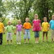 Group of children in the park — Stock Photo #8639606