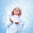 Portrait of little kid in winter wear — Stock Photo #9087183