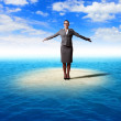 Businesswoman and weather — Stock Photo