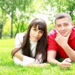 Young couple in park — Stock Photo #9155964