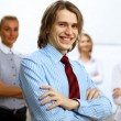 Young businessman at work in office — Stock Photo