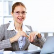 Business woman in office — Stock Photo #9188934