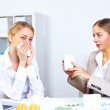 With cold and flu at work place — Stock Photo #9189171