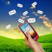 Comunicación del teléfono móvil — Foto de Stock