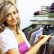 Young woman doing shopping — Stock Photo